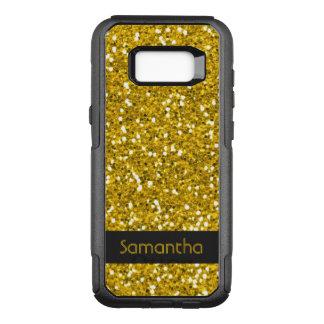 Classy Faux Gold Glitter Pattern Name OtterBox Commuter Samsung Galaxy S8+ Case