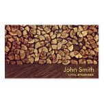 Classy Firewood Civil Engineer Business Card