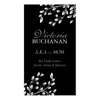 Classy Floral Mommy Card Double-Sided Standard Business Cards (Pack Of 100)