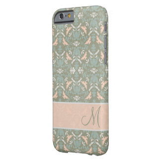 Classy Floral Monogram Damask Barely There iPhone 6 Case