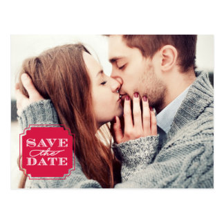 Classy Frame Save the Date Postcard