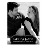 Classy Framed Photo Save the Date Post Card