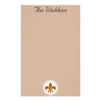 Classy French Fleur de Lis Custom Stationary Stationery