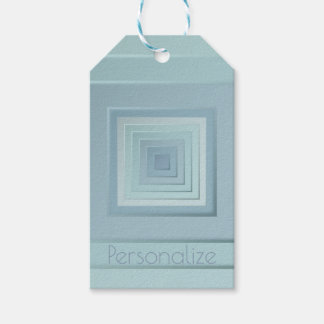 Classy Geometric Squares Gift Tags