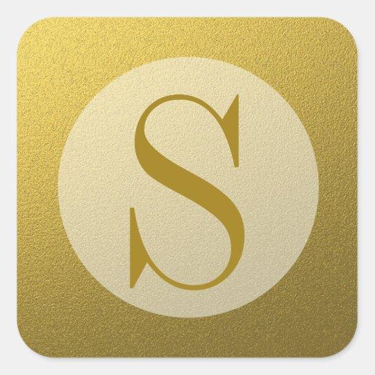 Classy Glitter Gold Monogram Seal