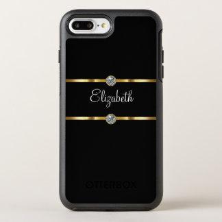 Classy Glitzy Monogram Style OtterBox Symmetry iPhone 8 Plus/7 Plus Case