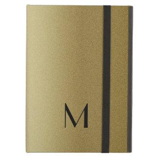 Classy Gold And Black Monogram iPad Air Case