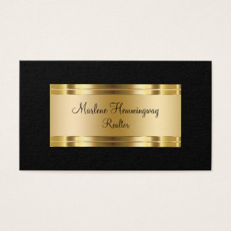 Classy Gold And Black Realtor Business Card