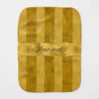 Classy Gold Foil Stripes Baby Burp Cloths