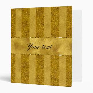Classy Gold Foil Stripes Binder