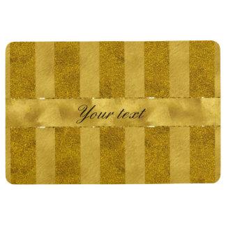 Classy Gold Foil Stripes Floor Mat