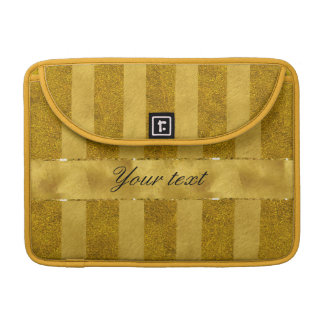 Classy Gold Foil Stripes MacBook Pro Sleeves