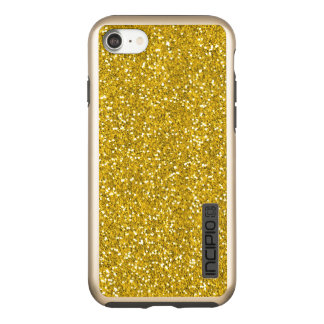 Classy Gold Glitter Look Luxury Incipio DualPro Shine iPhone 7 Case