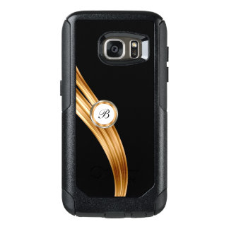 Classy Gold Monogram Emblem Design OtterBox Samsung Galaxy S7 Case