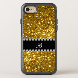 Classy Gold Monogram Glitter OtterBox Symmetry iPhone 7 Case