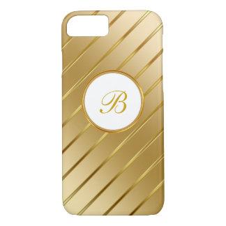 Classy Gold Monogram iPhone 7 Case