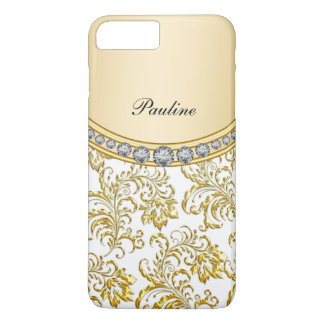 Classy Gold Monogram Style iPhone 7 Plus Case