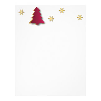 Classy Gold Red Christmas Tree - Letterhead