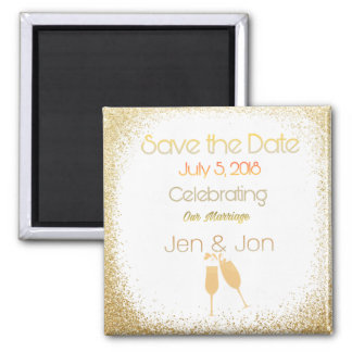 Classy gold Save the date Magnet
