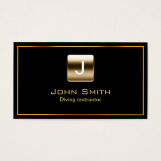 Classy Gold Stamp Diving Business Card