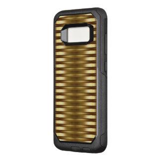 Classy Gold Stripes Pattern OtterBox Commuter Samsung Galaxy S8 Case