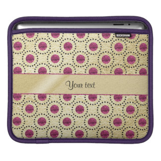 Classy Gold With Pink Glitter Dots iPad Sleeve