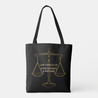 Classy Golden Scales of Justice | Lawyer Tote Bag