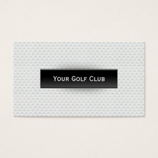 Classy Golf Ball Texture Golf Business Card