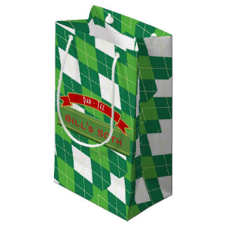 Classy Golf Golfers Partyware Gifts Personalized Small Gift Bag