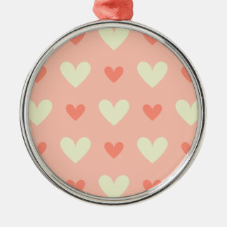 Classy Graceful Hearts - Love and Peace Pattern Silver-Colored Round Ornament