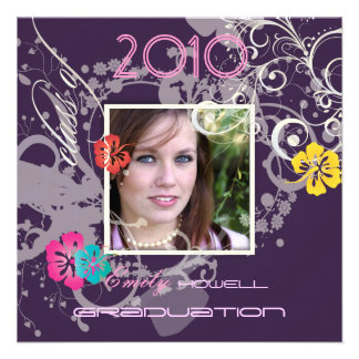 Classy Graduation 2010 Cap Pearl Swirls Announcements