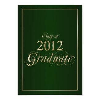 Classy Green and Gold 2012 Graduate Invitation