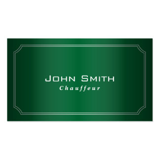 Classy Green Framed Chauffeur Business Card