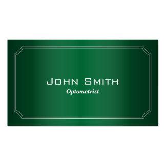 Classy Green Framed Optometrist Business Card
