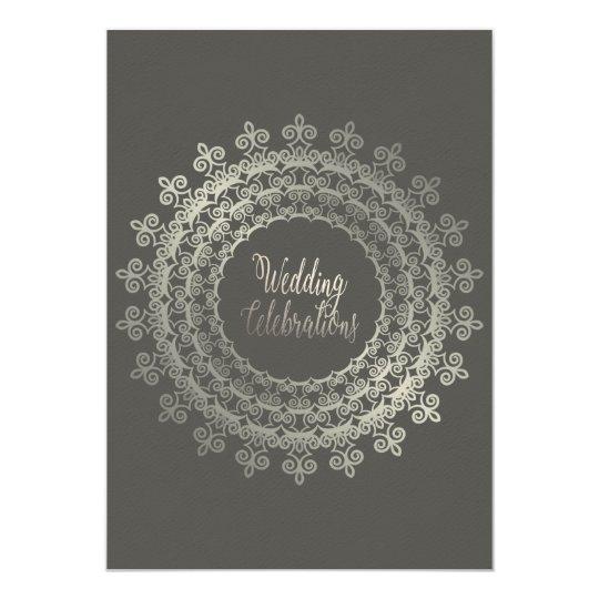 Classy Grey Wedding Card
