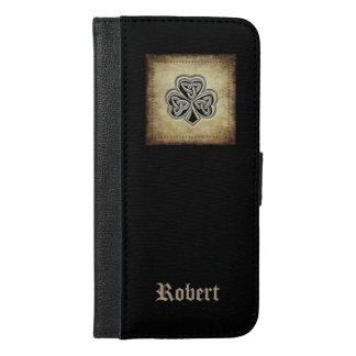 Classy grundge Irish lucky shamrock  monogram iPhone 6/6s Plus Wallet Case