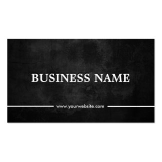 Classy Grunge Dark Nutrition Double-Sided Standard Business Cards (Pack Of 100)