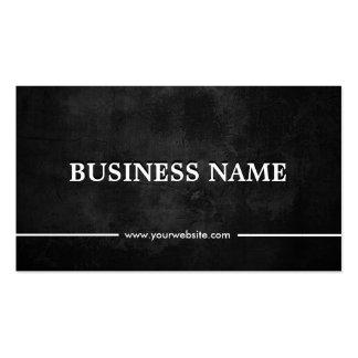 Classy Grunge Dark Nutrition Pack Of Standard Business Cards