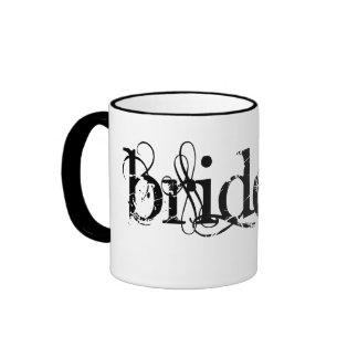 Classy Grunge Wedding - The Bride - B&W Ringer Mug