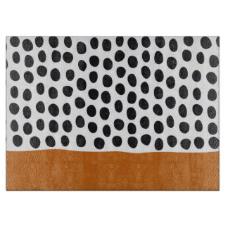 Classy Handpainted Polka Dots with Autumn Maple Cutting Board
