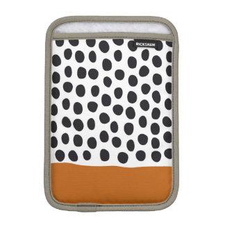 Classy Handpainted Polka Dots with Autumn Maple iPad Mini Sleeve