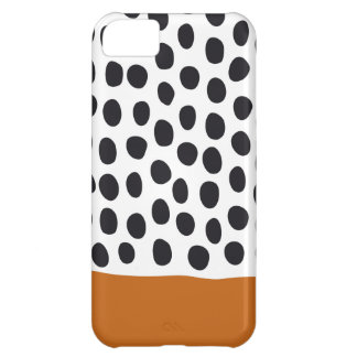Classy Handpainted Polka Dots with Autumn Maple iPhone 5C Cases