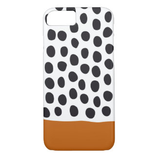 Classy Handpainted Polka Dots with Autumn Maple iPhone 8/7 Case