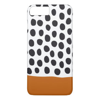 Classy Handpainted Polka Dots with Autumn Maple iPhone 8 Plus/7 Plus Case