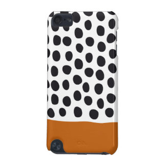Classy Handpainted Polka Dots with Autumn Maple iPod Touch (5th Generation) Case