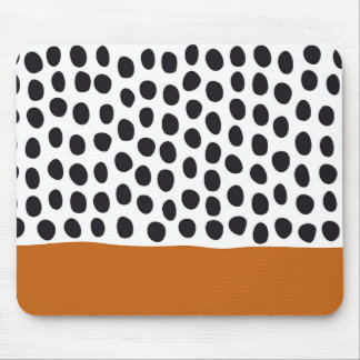 Classy Handpainted Polka Dots with Autumn Maple Mouse Pad