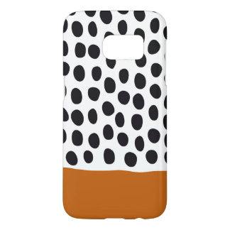 Classy Handpainted Polka Dots with Autumn Maple Samsung Galaxy S7 Case