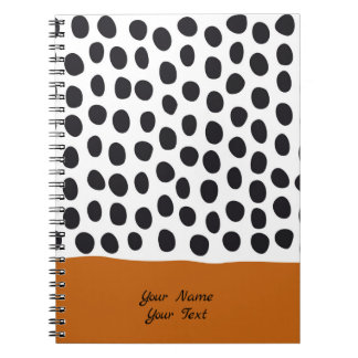 Classy Handpainted Polka Dots with Autumn Maple Spiral Notebook