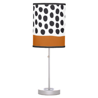 Classy Handpainted Polka Dots with Autumn Maple Table Lamp