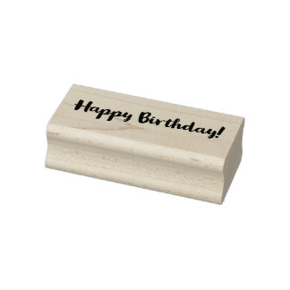 Classy Happy Birthday! Rubber Stamp